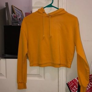 Forever 21 Cropped Hoodie (yellow)